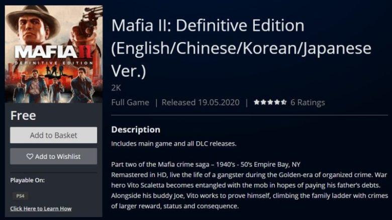 Mafia II: Definitive Edition Free