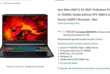 Acer Nitro AN515-55-5041 With GeForce RTX 3060 6GB